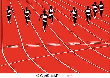 sprint female runners