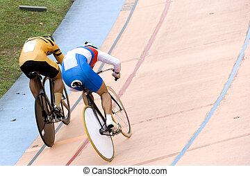 sprint, rennen, fahrrad
