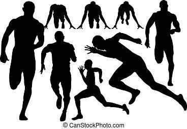 sprint, silhouette