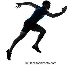 sprinten, läufer, sprinter, bemannen lauf