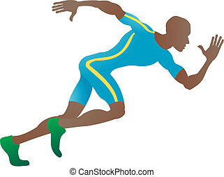 Sprinter - An illustration of a stylised sprinter running in...