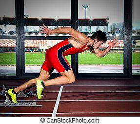 sprinter, mann