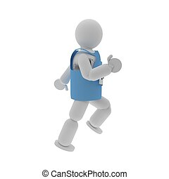 Sprinter puppet with sport shirt