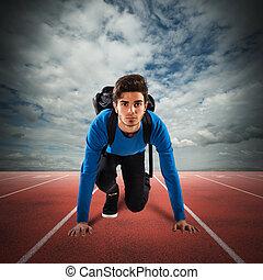 sprinter, schueler