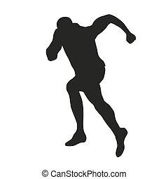 Sprinter silhouette