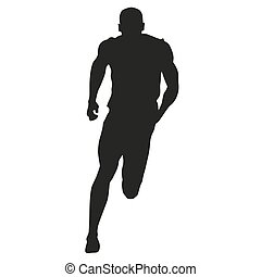 sprinter, vector, silhouette