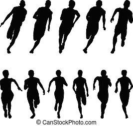 sprinterzy, komplet, biegacze