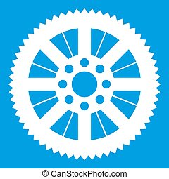 Sprocket from bike icon white