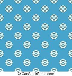 Sprocket from bike pattern seamless blue