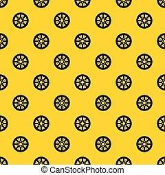 Sprocket from bike pattern vector