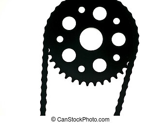Sprocket - Highly detailed of a model chain and sprocket