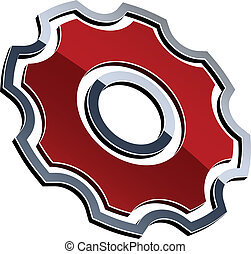 sprocket, vettore, baluginante, 3d