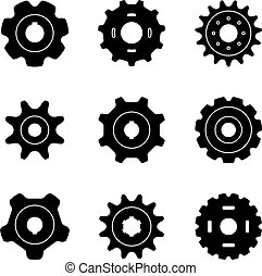 Sprocket wheel icon set