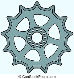 Sprocket wheel - Illustration of the sprocket wheel