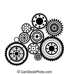 sprockets - abstract clockwork background