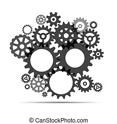 sprockets., gris, illustration