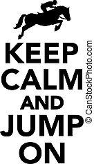 sprong, kalm, bewaren