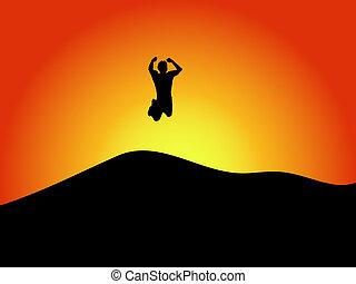 sprong, vreugde