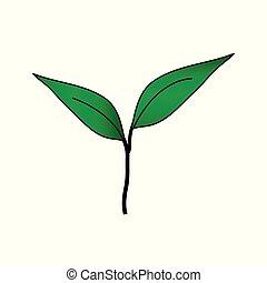 Sprout icon on white.