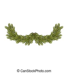 Spruce branches isolated. Christmas and New Year accessory