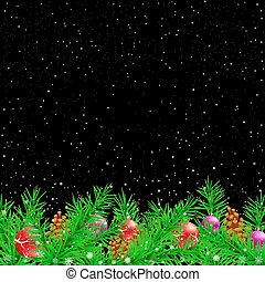 Spruce Christmas black night background
