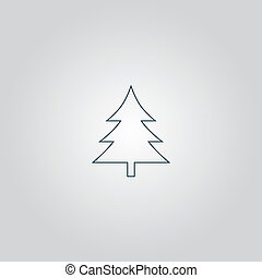 Spruce, christmas tree icon - Spruce, christmas tree. Flat...