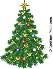 christmas tree - Spruce christmas tree isolated on white