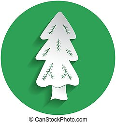 Spruce icon in paper style