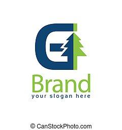 Spruce Letter G Logo. Vector Illustration on white background