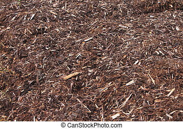 spruce mulch - Spruce Mulch stock photograph