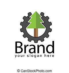 Spruce power logo. Vector Illustration on black background