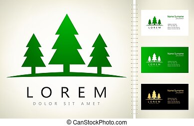 Spruce vector logo tree design
