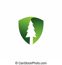 spruce vector logo with shield elements