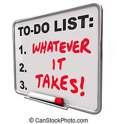 spruch, nimmt, notieren, motivational, liste, ihm, immer