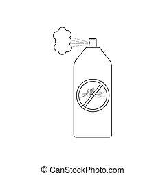 spruzzo, zanzara, illustrazione