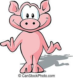 sprytny, świnia