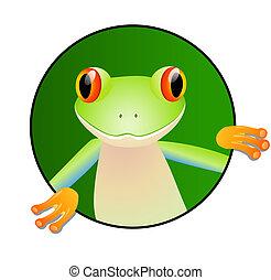 sprytny, żaba