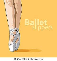sprytny, baletowe pantofle