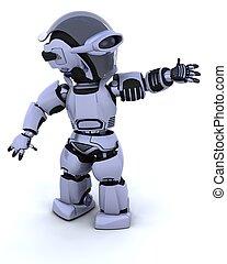 sprytny, cyborg, robot