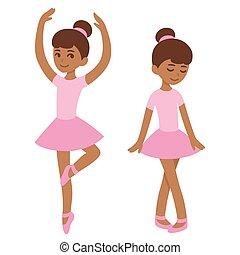 sprytny, czarnoskóry, balerina