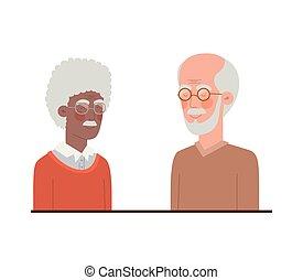 sprytny, litera, avatar, dziadkowie