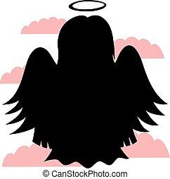 sprytny, mały, anioły