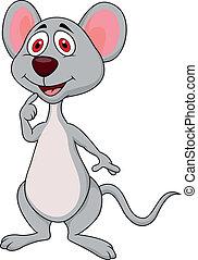 sprytny, mysz, rysunek