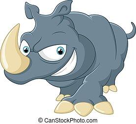 sprytny, nosorożec, rysunek