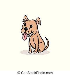 sprytny, pies, rysunek