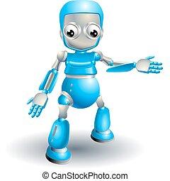 sprytny, poza, coś, spoinowanie, robot