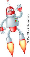 sprytny, przelotny, robot, człowiek