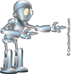 sprytny, robot, ilustracja