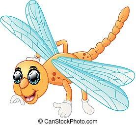 sprytny, rysunek, dragonfly