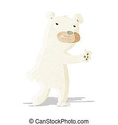 sprytny, rysunek, niedźwiedź, polarny